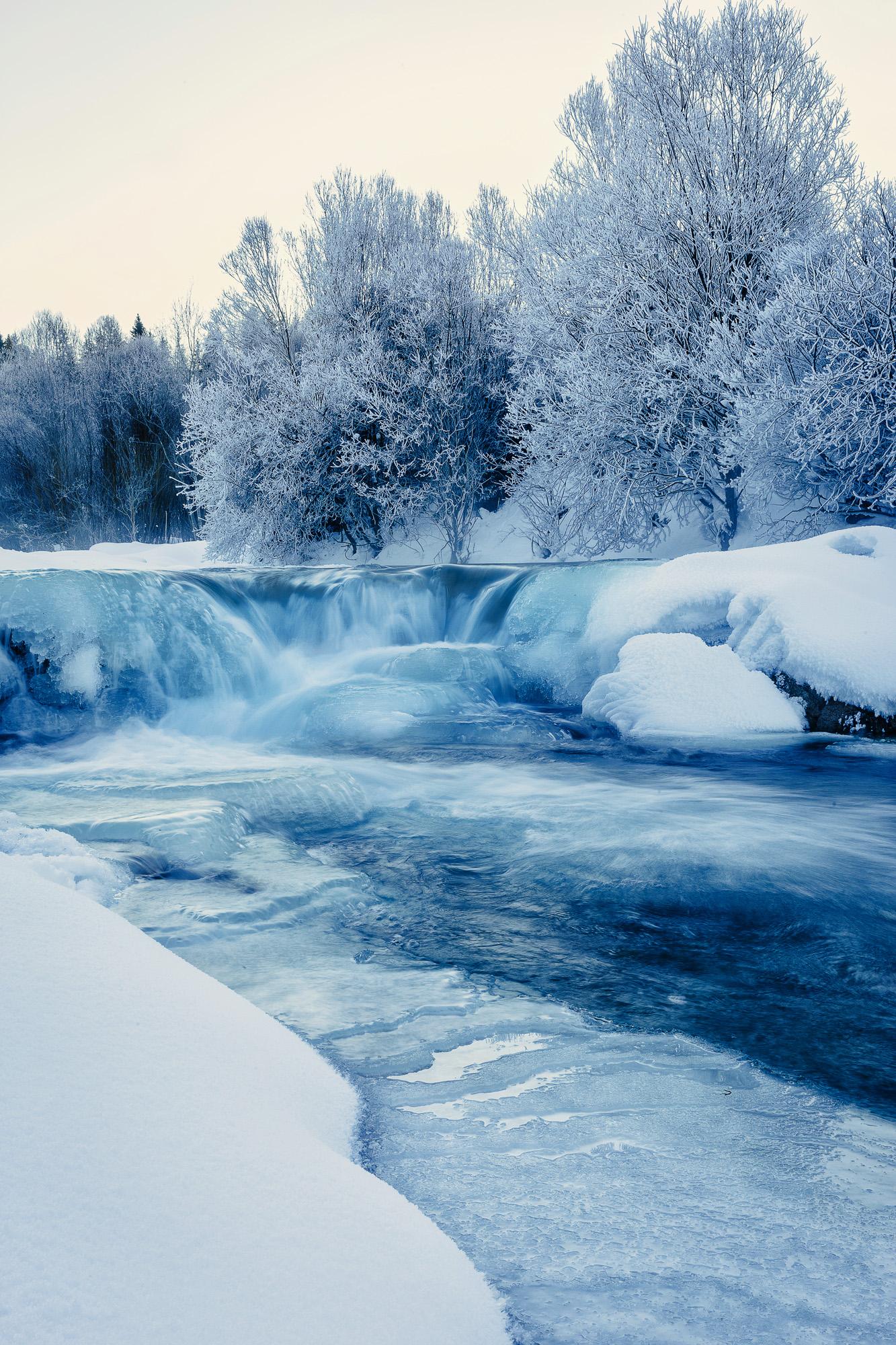December - Zamrznutá rieka Belá